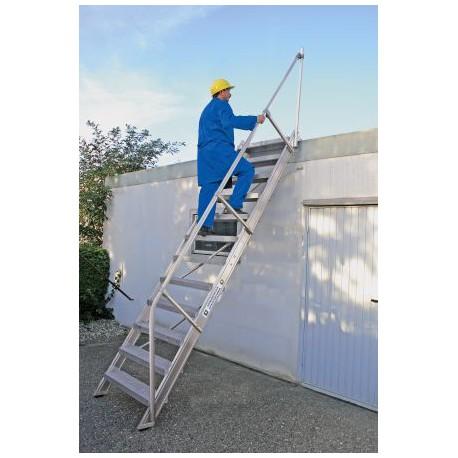 Option 2ème main courante pour escalier incliné à 45°