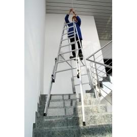 Échelle double pour escalier