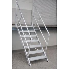 Escalier incliné à 45° largeur utile 1000 mm