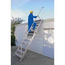 Option 2ème main courante pour escalier incliné à 60°