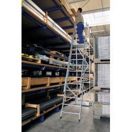 Plate-forme de travail repliable industrielle à traverse étroite
