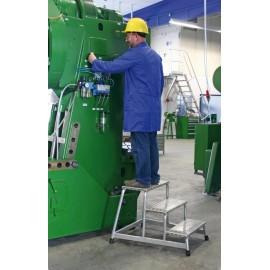 Marchepied aluminium monobloc industriel
