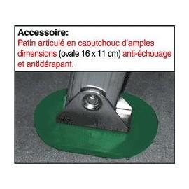 Patin articulé caoutchouc anti-échouage et antidérapant pour échelles