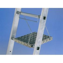 Repose pied en aluminium strié pour échelles