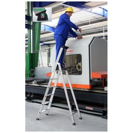 Escabeau pro aluminium à marches de 80 mm